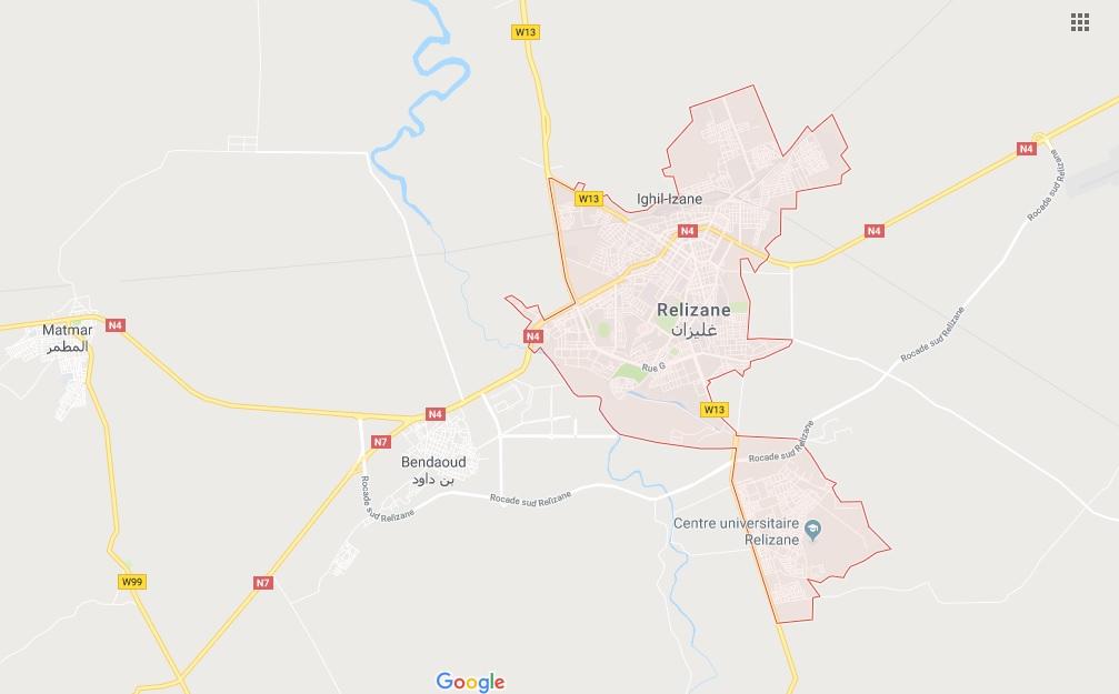 Carte Algerie Autoroute Est Ouest.Wilaya De Relizane Informations Utiles De Relizane